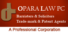 Opara Law PC Barristers & Solicitors Trademark & Patent Agents